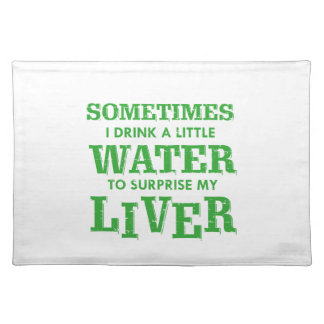 Funny Liver designs Placemat
