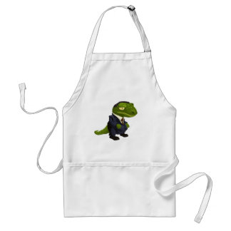 Funny Lizard in a Business Suit Standard Apron