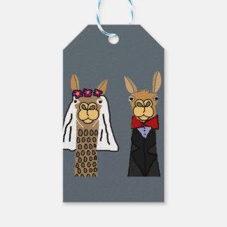 Funny Llama Bride and Groom Wedding Art Pack Of Gift Tags