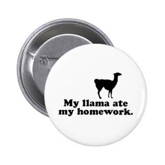Funny Llama Pinback Button