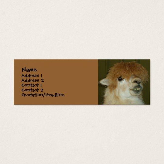 Funny Llama Mini Business Card
