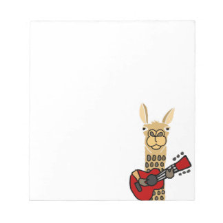 Funny Llama Playing Guitar Notepad