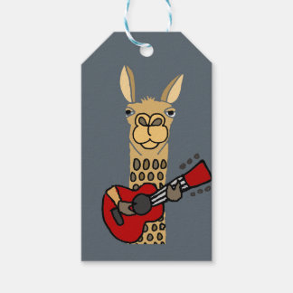 Funny Llama Playing Guitar Pack Of Gift Tags