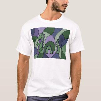 Funny Loch Ness Monster Abstract Art T-Shirt