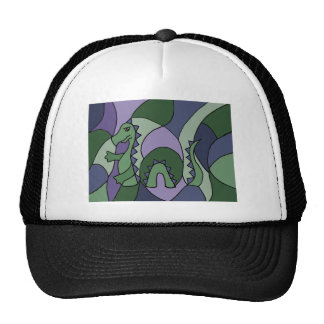 Funny Loch Ness Monster Abstract Art Trucker Hat