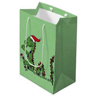 Funny Loch Ness Monster Christmas Gift Bag