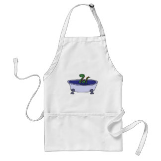Funny Loch Ness Monster in Bathtub Aprons