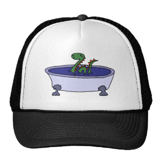 Funny Loch Ness Monster in Bathtub Trucker Hat