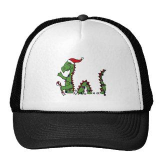 Funny Loch Ness Monster in Santa Hat Christmas