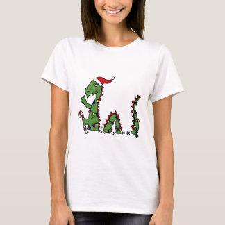 Funny Loch Ness Monster in Santa Hat Christmas T-Shirt