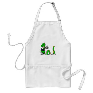 Funny Loch Ness Monster Playing Blue Bagpipes Standard Apron