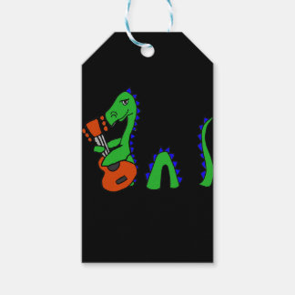 Funny Loch Ness Monster Playing Guitar Art Pack Of Gift Tags