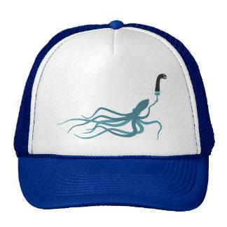 Funny Loch Ness Monster Squid Cartoon Mesh Hat