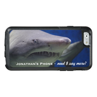 Funny LOL Great White Shark Personalized Monogram OtterBox iPhone 6/6s Case