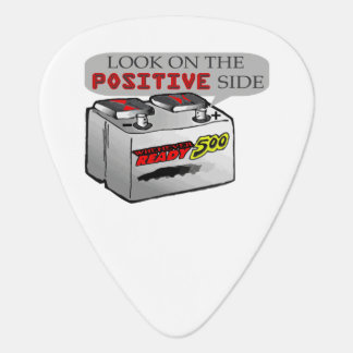 Funny Look On Positive Side Guitar Pick