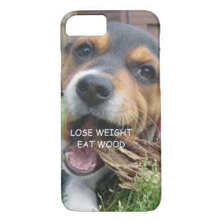 Funny Lose Weight Eat Wood Puppy iPhone 8/7 Case