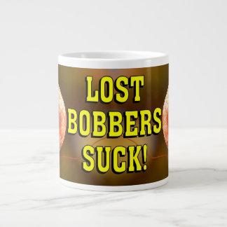 Funny LOST BOBBER SUCK! Large Coffee Mug