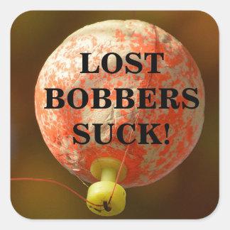 Funny LOST BOBBERS SUCK! Square Sticker