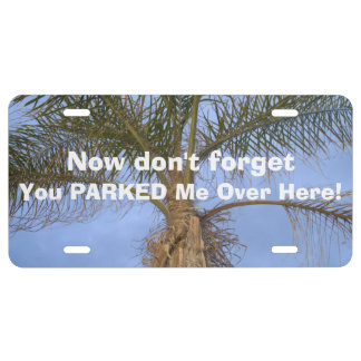 Funny Lost Parked Car Palm Tree License Plate