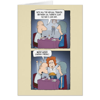 Funny love card: Cheesy Fries Greeting Card