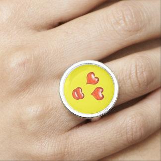 Funny Love Kiss Emoji Smiley Ring