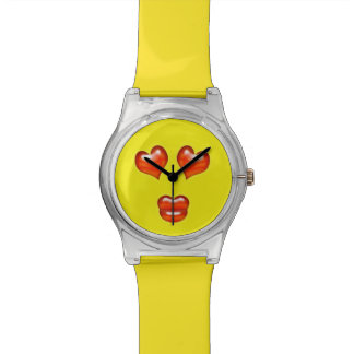 Funny Love Kiss Emoji Smiley Watch
