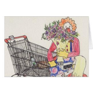 Funny love & Romance Clown novelty art card