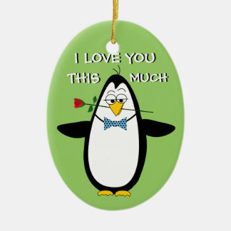 FUNNY LOVE ROMANTIC FOR HER CHRISTMAS GIFT CERAMIC OVAL ORNAMENT