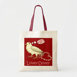 Funny Lovey-Dovey Valentine s Day Dove Canvas Bag