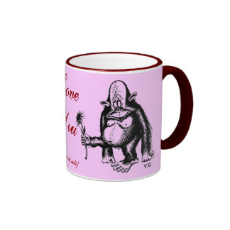 Funny loving monkey mug