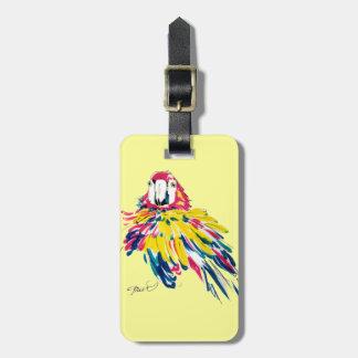 Funny Macaw Luggage Tag