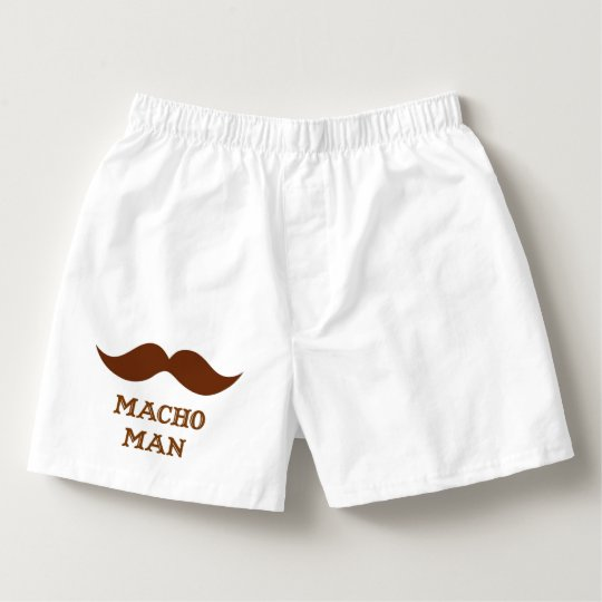 Funny Macho Man Moustache Boxers