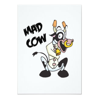 funny mad cow invites