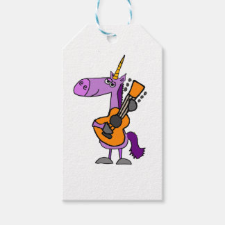 Funny Magical Unicorn Playing Guitar Pack Of Gift Tags