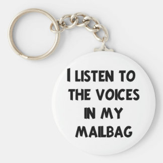 Funny Mail Carrier T-shirts and Gifts Keychain