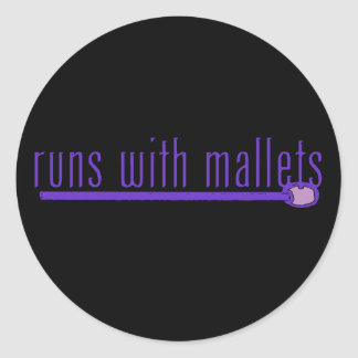 Funny Mallet Classic Round Sticker