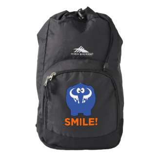 Funny mammoth life. backpack