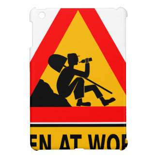Funny Man at work sign iPad Mini Cover