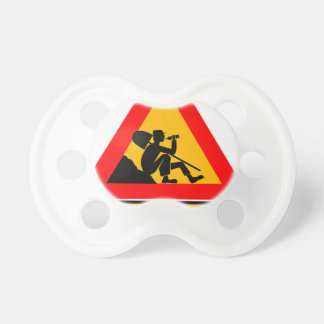 Funny Man at work sign Pacifiers