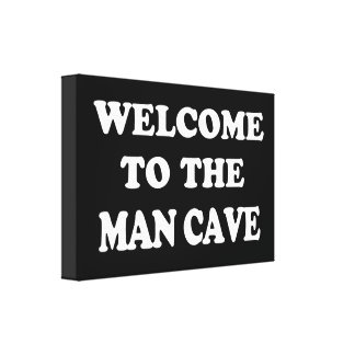 Funny Man Cave Wrapped Canvas Canvas Print