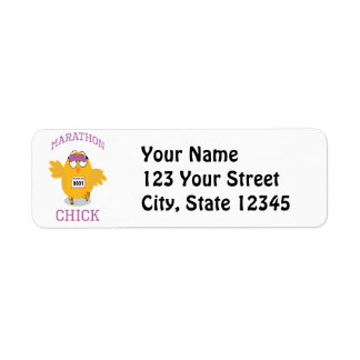 Funny Marathon Chick Return Address Label