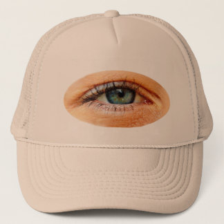 Funny Martian Third Eye Peeking Trucker Hat