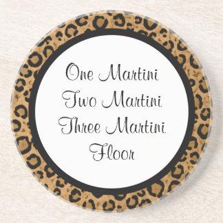 Funny Martini Leopard Coaster