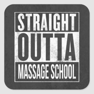 Funny Massage Therapy Student School Graduation Square Sticker