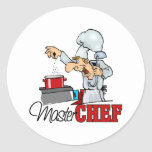 Funny Master Chef Gift Classic Round Sticker