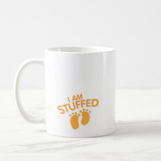 funny maternity for women thanksgiving IAm Stuffed Coffee Mug