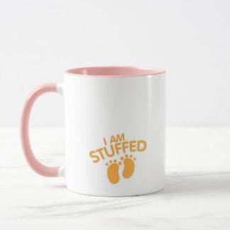 funny maternity for women thanksgiving IAm Stuffed Mug