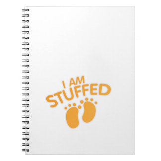 funny maternity for women thanksgiving IAm Stuffed Notebooks