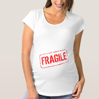 Funny maternity shirt | Fragile rubber stamp