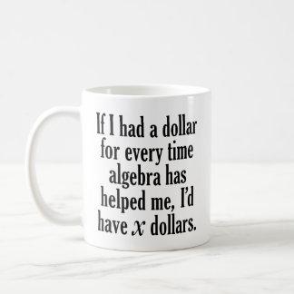 Funny Math/Algebra Quote - I'd have x dollars Coffee Mug